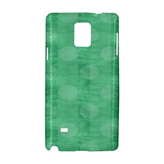 Polka Dot Scrapbook Paper Digital Green Samsung Galaxy Note 4 Hardshell Case by Mariart