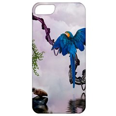 Wonderful Blue Parrot In A Fantasy World Apple Iphone 5 Classic Hardshell Case by FantasyWorld7
