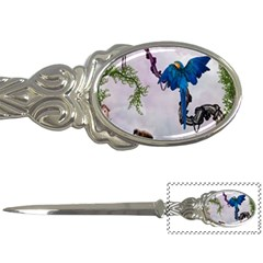 Wonderful Blue Parrot In A Fantasy World Letter Openers by FantasyWorld7