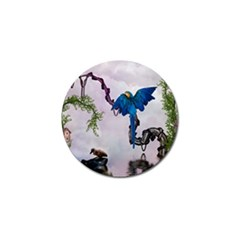 Wonderful Blue Parrot In A Fantasy World Golf Ball Marker (10 Pack) by FantasyWorld7