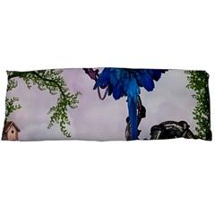 Wonderful Blue Parrot In A Fantasy World Body Pillow Case (dakimakura) by FantasyWorld7
