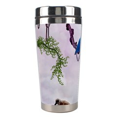 Wonderful Blue Parrot In A Fantasy World Stainless Steel Travel Tumblers by FantasyWorld7