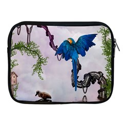 Wonderful Blue Parrot In A Fantasy World Apple Ipad 2/3/4 Zipper Cases by FantasyWorld7