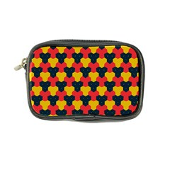 Red Blue Yellow Shapes Pattern        coin Purse by LalyLauraFLM