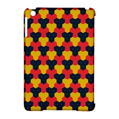Red Blue Yellow Shapes Pattern       apple Ipad Mini Hardshell Case (compatible With Smart Cover) by LalyLauraFLM