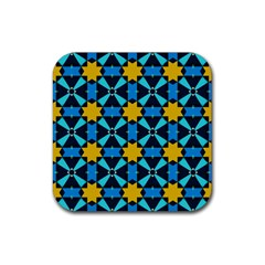 Stars Pattern       rubber Square Coaster (4 Pack by LalyLauraFLM