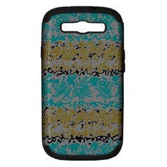 Blue Brown Waves      			samsung Galaxy S Iii Hardshell Case (pc+silicone) by LalyLauraFLM