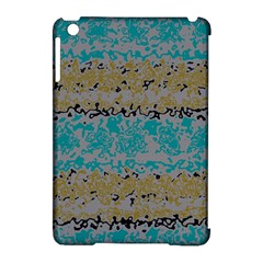 Blue Brown Waves      apple Ipad Mini Hardshell Case (compatible With Smart Cover) by LalyLauraFLM