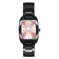 Neonite Abstract Pattern Neon Glow Background Stainless Steel Barrel Watch by Nexatart