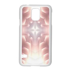 Neonite Abstract Pattern Neon Glow Background Samsung Galaxy S5 Case (white) by Nexatart