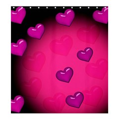 Pink Hearth Background Wallpaper Texture Shower Curtain 66  x 72  (Large)  by Nexatart