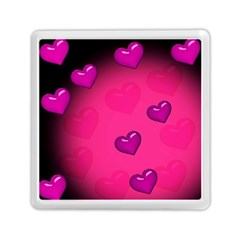 Pink Hearth Background Wallpaper Texture Memory Card Reader (square)  by Nexatart