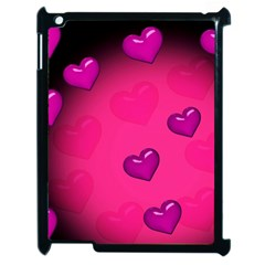 Pink Hearth Background Wallpaper Texture Apple iPad 2 Case (Black)
