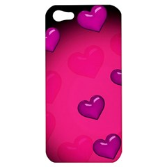 Pink Hearth Background Wallpaper Texture Apple Iphone 5 Hardshell Case by Nexatart