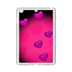 Pink Hearth Background Wallpaper Texture Ipad Mini 2 Enamel Coated Cases by Nexatart