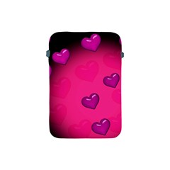 Pink Hearth Background Wallpaper Texture Apple Ipad Mini Protective Soft Cases by Nexatart