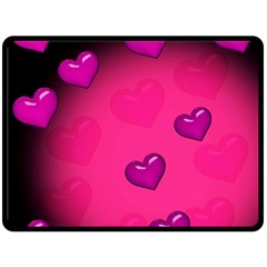Pink Hearth Background Wallpaper Texture Double Sided Fleece Blanket (large)  by Nexatart