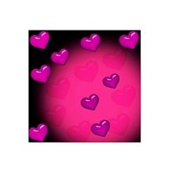 Pink Hearth Background Wallpaper Texture Satin Bandana Scarf by Nexatart