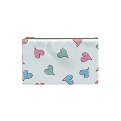 Colorful Random Hearts Cosmetic Bag (small)  by Nexatart