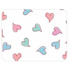 Colorful Random Hearts Double Sided Flano Blanket (medium)  by Nexatart
