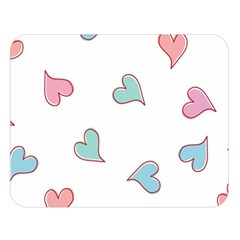 Colorful Random Hearts Double Sided Flano Blanket (large)  by Nexatart