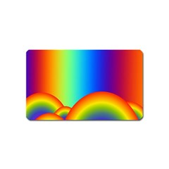 Background Rainbow Magnet (name Card) by Nexatart