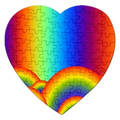Background Rainbow Jigsaw Puzzle (heart) by Nexatart