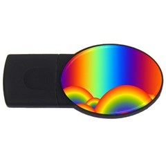 Background Rainbow Usb Flash Drive Oval (4 Gb) by Nexatart