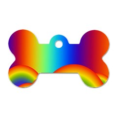 Background Rainbow Dog Tag Bone (two Sides) by Nexatart