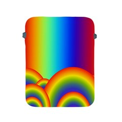Background Rainbow Apple Ipad 2/3/4 Protective Soft Cases by Nexatart