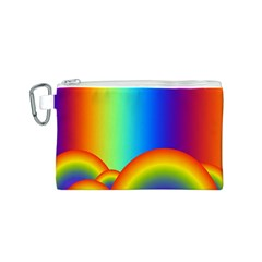 Background Rainbow Canvas Cosmetic Bag (s) by Nexatart