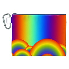 Background Rainbow Canvas Cosmetic Bag (xxl) by Nexatart