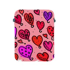 Valentine Wallpaper Whimsical Cartoon Pink Love Heart Wallpaper Design Apple Ipad 2/3/4 Protective Soft Cases by Nexatart