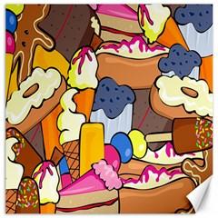 Sweet Stuff Digitally Food Canvas 12  X 12   by Nexatart