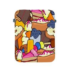 Sweet Stuff Digitally Food Apple Ipad 2/3/4 Protective Soft Cases by Nexatart