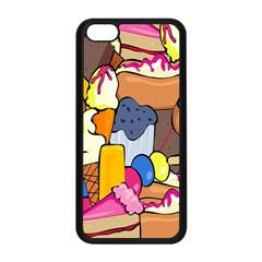 Sweet Stuff Digitally Food Apple Iphone 5c Seamless Case (black) by Nexatart