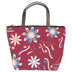 Floral Seamless Pattern Vector Bucket Bags by Nexatart