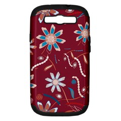 Floral Seamless Pattern Vector Samsung Galaxy S Iii Hardshell Case (pc+silicone) by Nexatart