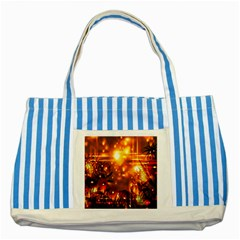 Summer Evening Striped Blue Tote Bag by Nexatart