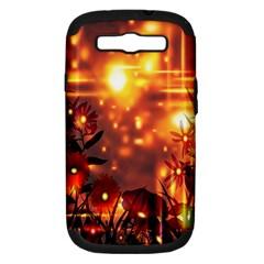 Summer Evening Samsung Galaxy S Iii Hardshell Case (pc+silicone) by Nexatart