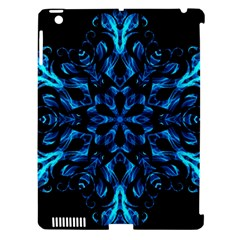 Blue Snowflake Apple Ipad 3/4 Hardshell Case (compatible With Smart Cover) by Nexatart