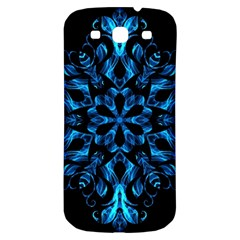 Blue Snowflake Samsung Galaxy S3 S Iii Classic Hardshell Back Case by Nexatart