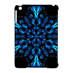 Blue Snowflake Apple Ipad Mini Hardshell Case (compatible With Smart Cover) by Nexatart