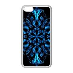 Blue Snowflake Apple Iphone 5c Seamless Case (white) by Nexatart