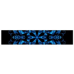 Blue Snowflake Flano Scarf (small) by Nexatart