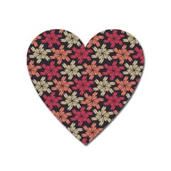 Floral Seamless Pattern Vector Heart Magnet by Nexatart