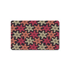 Floral Seamless Pattern Vector Magnet (name Card) by Nexatart