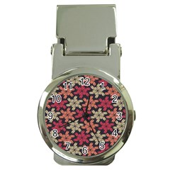 Floral Seamless Pattern Vector Money Clip Watches by Nexatart