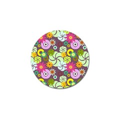 Floral Seamless Pattern Vector Golf Ball Marker (10 Pack)