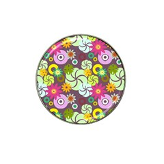Floral Seamless Pattern Vector Hat Clip Ball Marker (10 Pack) by Nexatart
